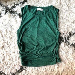 Aritzia Babylon wrap top - green